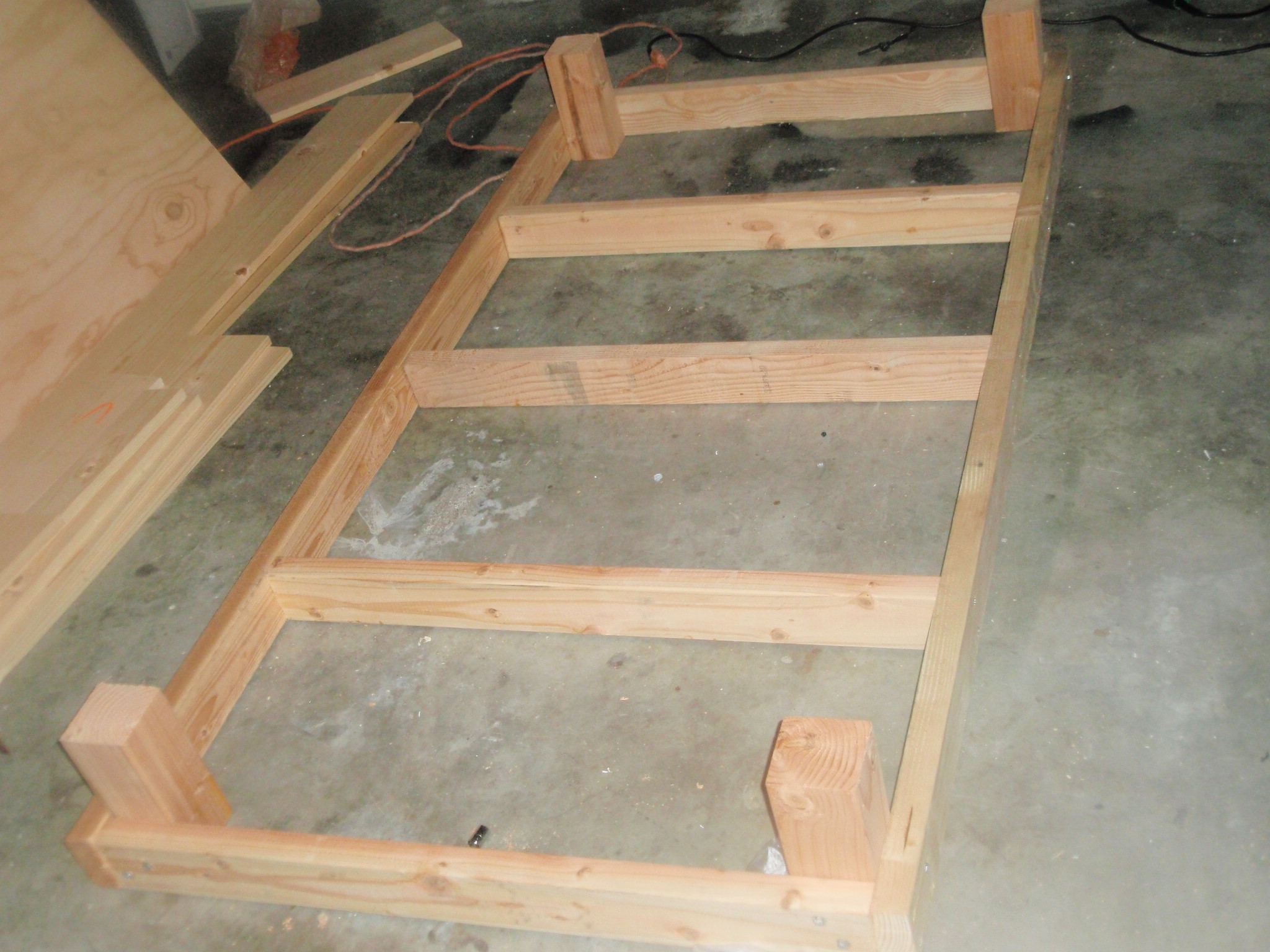 twin bed frame building plans