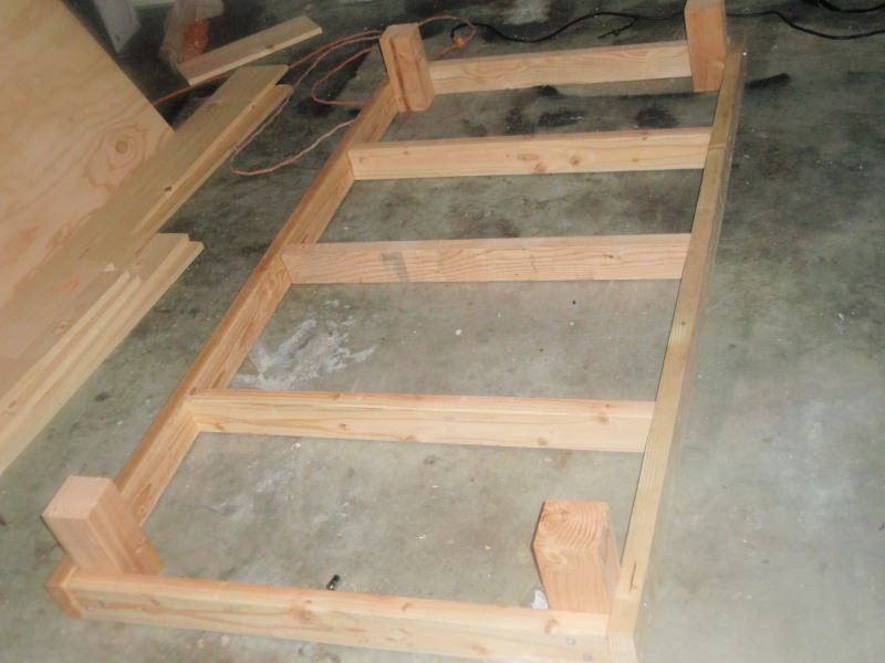 homemade twin bed frame plans